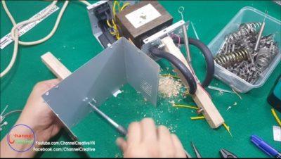 Как сделать точечную сварку из трансформатора от микроволновки