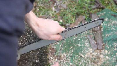 как правильно точить цепь бензопилы напильником