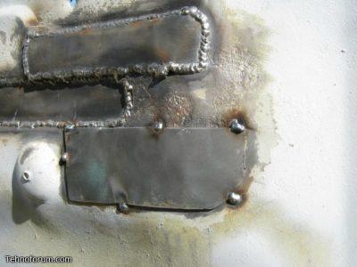Как прожечь дыру электродом