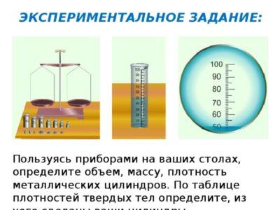 Как рассчитать массу металлического цилиндра