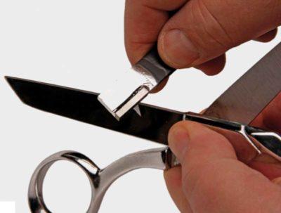как наточить ножницы в домашних условиях