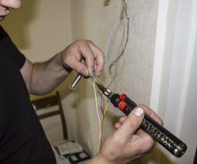 Как паять проводку в доме
