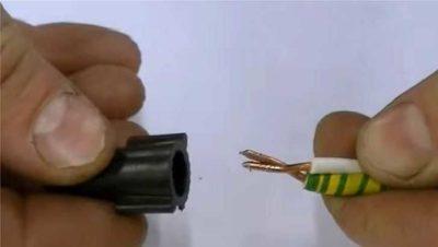 Как скрутить три одножильных провода