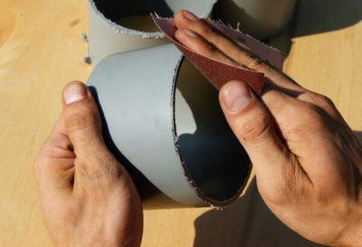 Как разрезать трубу пополам