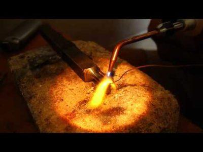 Как паять алюминий с помощью газовой горелки
