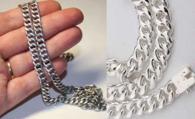 Как и чем отбелить серебряную цепочку
